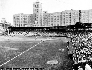 The Atlanta Crackers minor league baseball team played in this stadium on Ponce de Leon Avenue