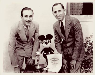 Walt Disney dreamed up ideas for Disney. But it was his brother Roy (right) who found the money to fund his big dreams.