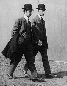 The Wright Brothers, whose successful partnership led to the first functional flying machine.