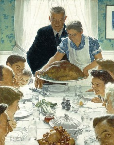 "Norman Rockwell's ""Freedom From Want."""