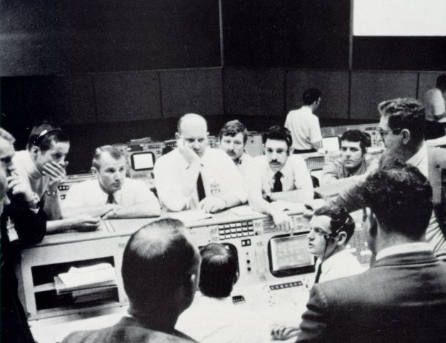 Mission Control in Houston dealing with the explosion onboard Apollo 13. (Photo courtesy of NASA.org)