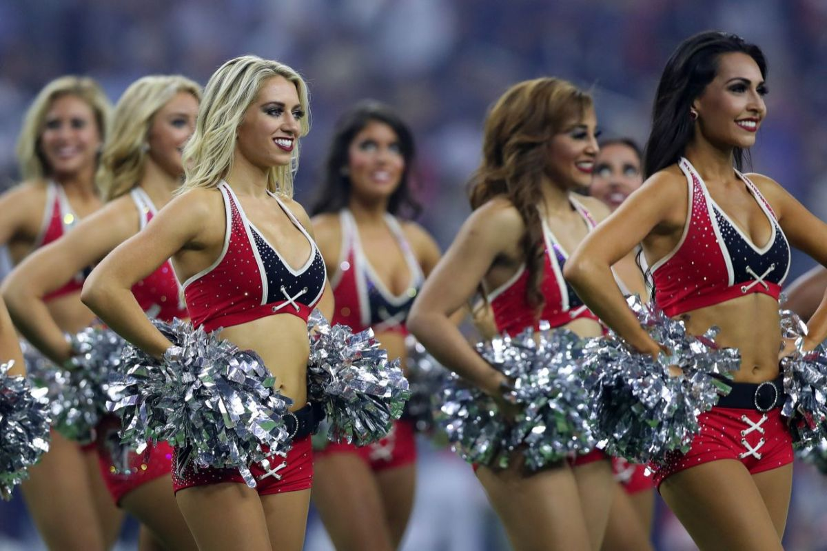 It was a tough fourth quarter at the Super Bowl for Atlanta Falcons fans. But those Falcons cheerleaders never stopped yelling and waving their pom-poms.